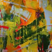 Abstraktes Bild, Acryl auf Leinwand 120 x 150 cm März 2013 in Privatbesitz