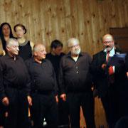 Ehrung der Jubilare Werner Rüpplein, Ludwig Pflaum und Dieter Schömig