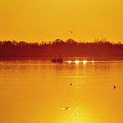 Sonnenuntergang in der Geltinger Bucht