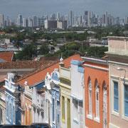 Olinda, im Hintergrund Recife