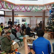 「サティシュの学校」の上映会。辻さん上野さんたちと色川の人たちが交流してもらえて嬉しかったです。