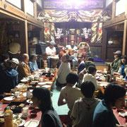 豊穣庵でのライブと宴