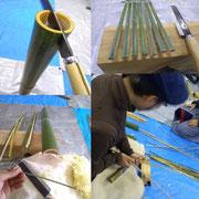 竹からひごをつくるまで。竹細工の一つの要はひごづくりなんですね~