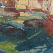 Fleeting shadows 3, 2012, oil and acrylic on canvas, 30 x 30 cm