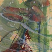 Fleeting shadows 2, 2012, oil and acrylic on canvas, 30 x 30 cm