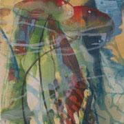Fleeting shadows 4, 2012, oil and acrylic on canvas, 30 x 30 cm