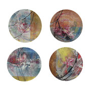 Four Sisters, 2012, oil, mixed media on canvas