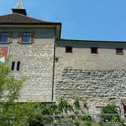 Schloss Kyburg im Kanton Zürich, hoch über der Töss