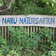 Eingang zum NABU-Naturgarten in Gartow