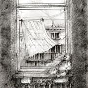 Christophers Ausblick, 2018, Bleistift, 21 x 29,7 cm