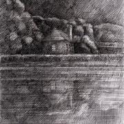 Die Nacht, 2018, Tusche, Tuschestifte, 21 x 29,7 cm