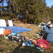 biathlon avec orientation et tir à la sarbacane