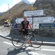 Le Galibier, la 1ère fois. De Valloire, dénivelé de 1200 m.