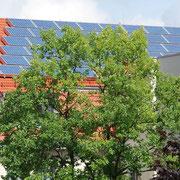 Solarflächen auf dem Dach