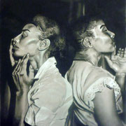 "Harlem Models  by Kim Ward  Charchol on Paper   $500 18"" x 24"""