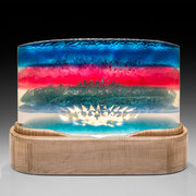 Aurora Borealist    poly resin and wood