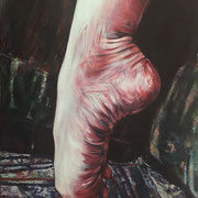 Pointed Foot, Rosanna Lyons (Oil on Canvas) $820