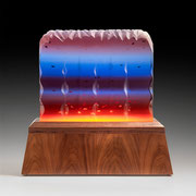 Fire and Ice    poly resin and wood