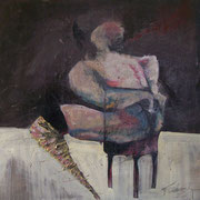 Figure Prone   oil on Canvas  24x24  $1000