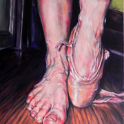 "Ballet Feet oil on canvas 24""x30""  Rosanna Lyons  $1250"