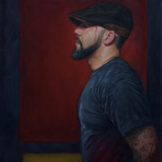 "Self Portrait  oil on panel 16x20""  Jimmy Arroyo  $1500"