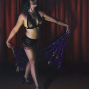 "Tila Von Twirl oil on panel  24x18""   Lacey Lewis  $3400"