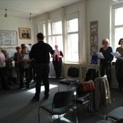 25.03.2017 Chorprobe der Vereinigten niedersorbischen Chöre in Cottbus - Leitung Gerald Schön
