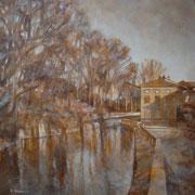 """""""Verso Santa Maria"""" - olio su tela cm. 50 x 50 – Carugate, collezione privata"""