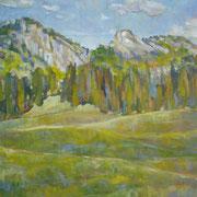 """""""Pomeriggio a Selva di Valgardena"""" - olio su tela cm. 40 x 50 - Besana Brianza, collezione privata"""