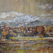 """""""Il Resegone"""" - olio su tela cm. 60 x 60 – Monza, collezione privata"""