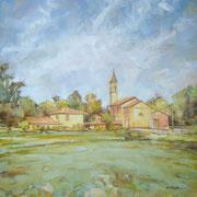 """""""Estate a Santa Maria"""" - olio su tela cm. 50 x 50 – Cernusco sul Naviglio, collezione privata"""