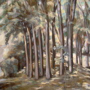 """""""Boschetto a Santa Maria"""" - tecnica mista su cartone telato cm. 40 x 30 – Cernusco sul naviglio, collezione privata"""