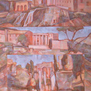 """""""Tivoli"""", olio su tela, cm. 35 x 50 - € 100,00"""