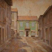 """""""La casa verde"""", olio su tela, cm. 40 x 40  - Cernusco sul Naviglio, collezione privata"""