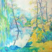 """""""Nel parco"""" - olio su tela cm. 30 x 40 - Cernusco sul Naviglio, collezione privata"""