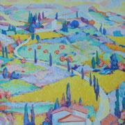 """""""La strada che va (o che viene)"""" - olio su tela cm. 50 x 40 – Monza, collezione privata"""