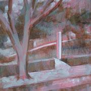 """""""Impressione lungonaviglio"""" - tecnica mista su carta cm. 40 x 30 – Pioltello, collezione privata"""