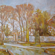 """""""Autunno ai Giardini all'Italiana"""" - olio su tela cm. 40 x 50 – € 180,00"""