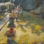 """Promessa d'estate"", olio su tavola, cm. 17,3 x 20,3 - € 300,00"