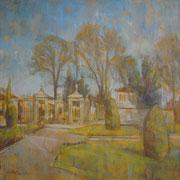"""""""Inverno ai Giardini all'Italiana"""" - olio su tela cm. 60 x 60 – € 300,00"""