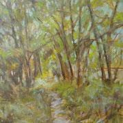 """""""Sentiero lungo la Martesana"""" - olio su tela cm. 35 x 50 – € 150,00"""