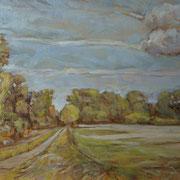 """""""Autunno sulla Martesana"""" - olio su tela cm. 35 x 50 – € 150,00"""
