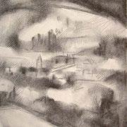 """""""Masi di Cavalese"""" - carboncino su carta cm. 21 x 29,7 – € 70,00"""