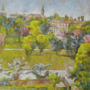 """""""Primavera a Pavia"""" - olio su tela cm. 40 x 60 – Besana Brianza, collezione privata"""