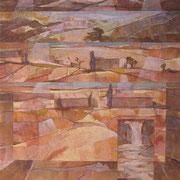 """Paesaggio interiore 1"", olio su cartone telato, cm. 30 x 40 - € 120,00"