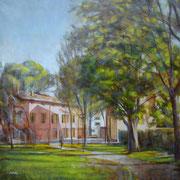 """L'ombra di Santa Maria"" - olio su tela cm. 60 x 60 – € 270,00"
