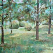 """""""Impressione - giardino"""" - tecnica mista su carta cm. 40 x 30 – Cernusco sul Naviglio, collezione privata"""