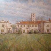 """""""Cascina Gaggiolo"""" - olio su tela cm. 60 x 70 – Cernusco sul Naviglio, collezione privata"""
