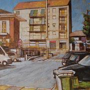 """""""Agosto a Pioltello"""", olio su tela, cm. 24 x 30 - Paesi Bassi, collezione privata"""