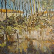 """Pomeriggio sul lungonaviglio"" - olio su tela cm. 50 x 60 – € 250,00"